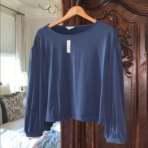 Madewell Long-Sleeve Soft Blouse size S